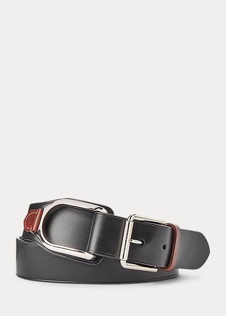 Polo RalphLauren Stirrup Turn-Back Leather Belt