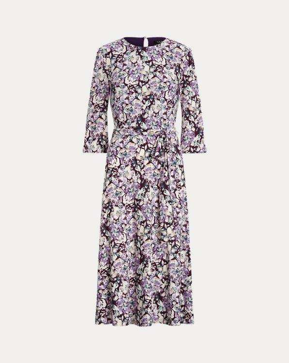 Floral Balloon-Sleeve Dress