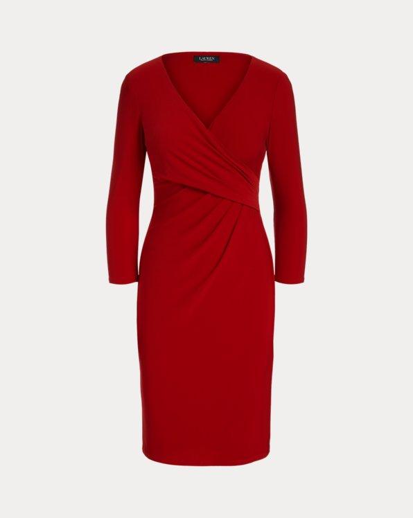Wrap-Front Jersey Dress