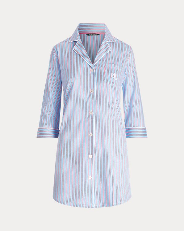 Cotton-Blend Sleep Shirt