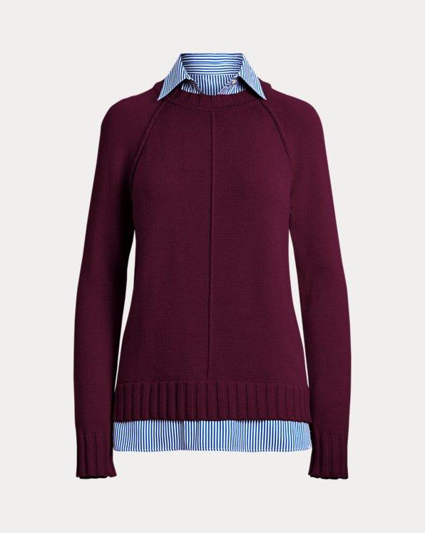 Layered Cotton Sweater