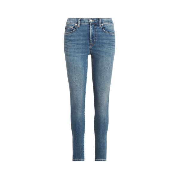 로렌 랄프로렌 청바지 Polo Ralph Lauren High-Rise Skinny Ankle Jean,Sunset Indigo Wash