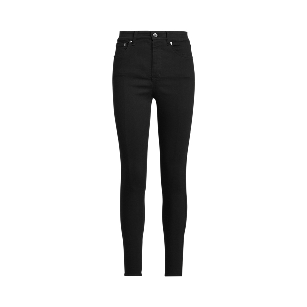 로렌 랄프로렌 앵클진 Polo Ralph Lauren High-Rise Skinny Ankle Jean,Empire Black Wash
