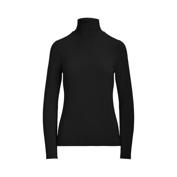 Lauren Jersey Turtleneck,Polo Black