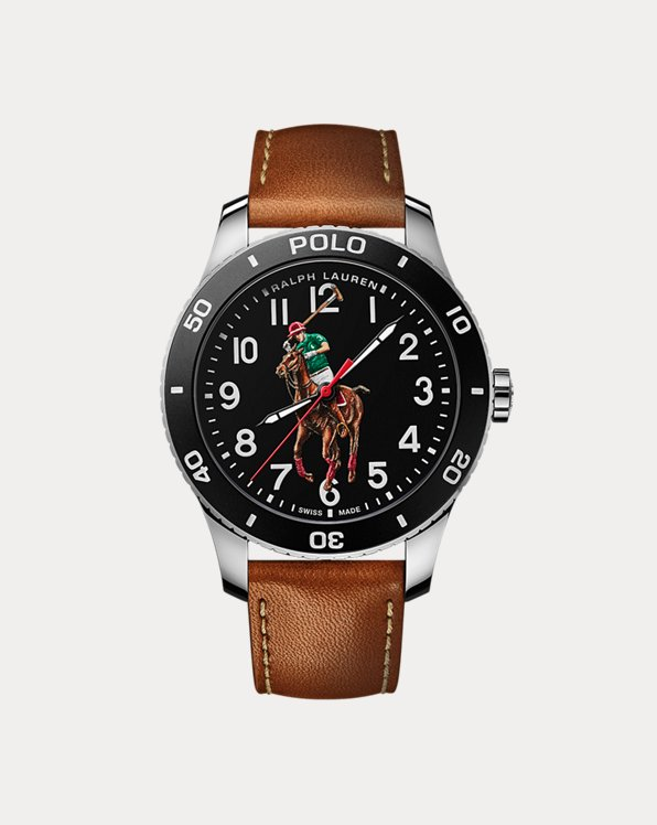 Polo Watch Black Dial