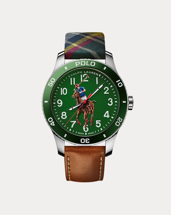 Polo Watch Green Dial