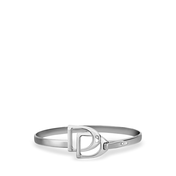 Sterling Silver Double-Stirrup Bangle
