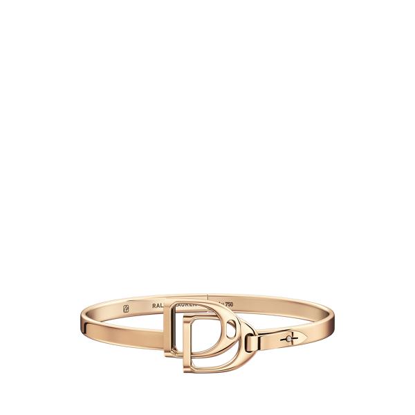 Rose Gold Double-Stirrup Bangle