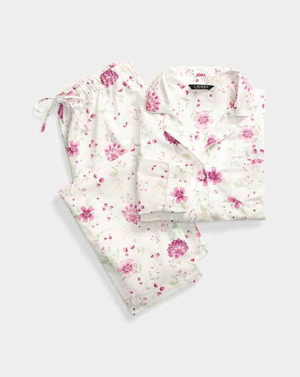 Print Sateen-Cotton Sleep Set