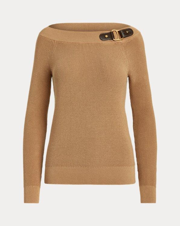 Pullover mit Carmen-Ausschnitt