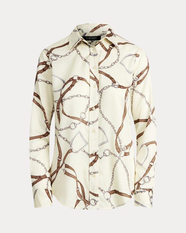 Print Cotton Sateen Shirt