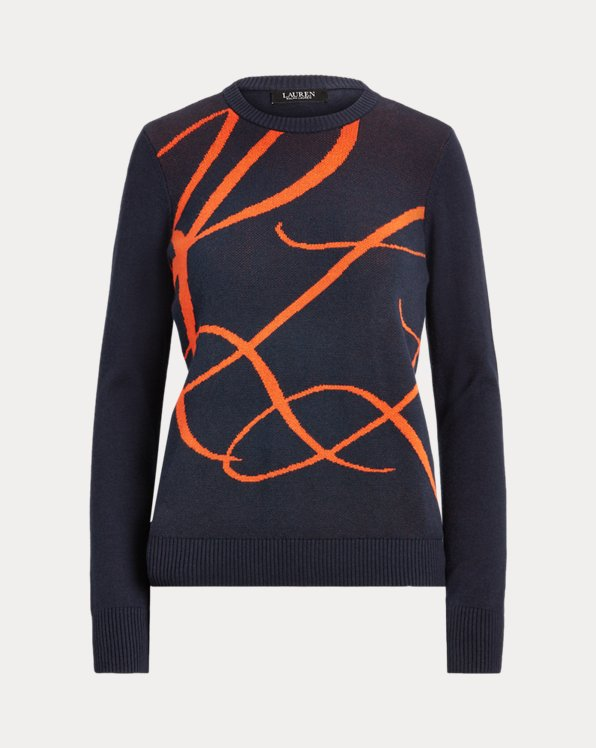 Baumwoll-Modal-Pullover mit Logo