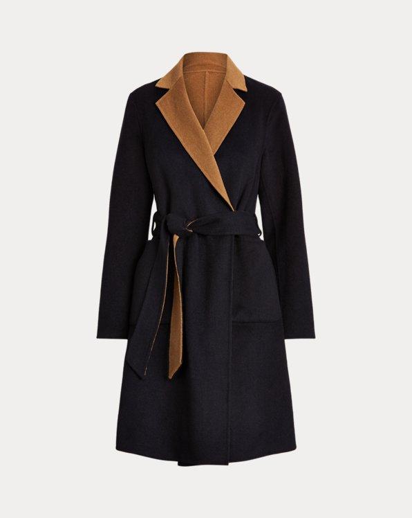 Cappotto double-face in misto lana