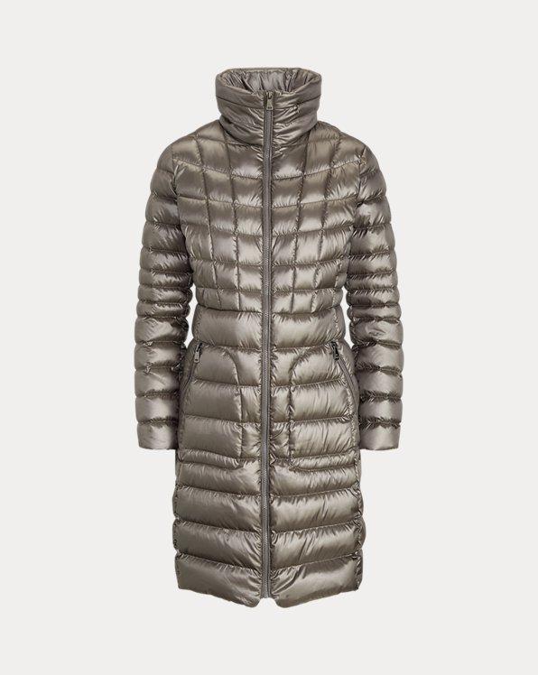Quilted Mockneck Coat