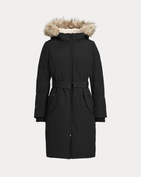 Belted Hooded Down Coat