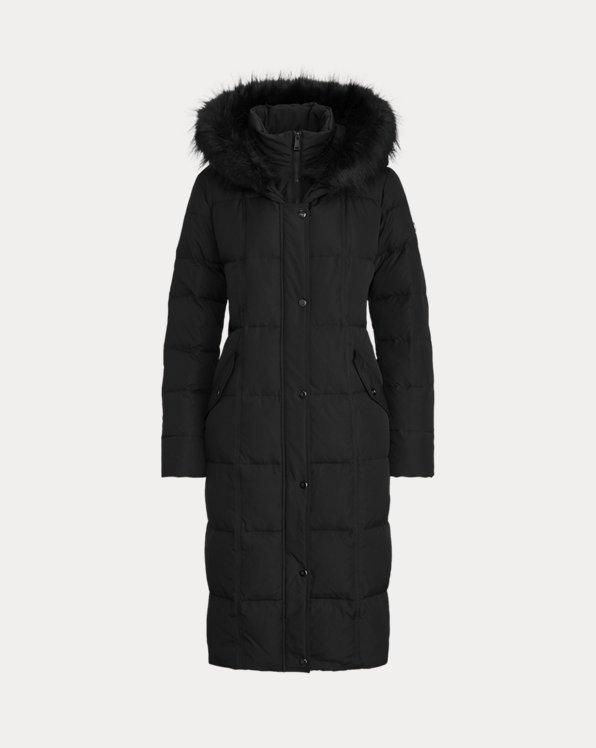 Manteau maxi matelassé