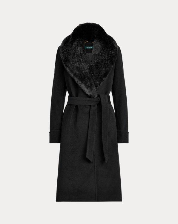 Cappotto a vestaglia in misto lana