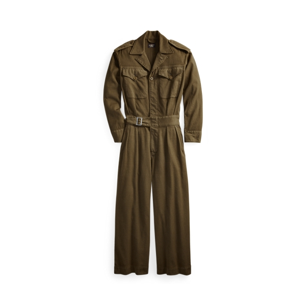폴로 랄프로렌 Polo Ralph Lauren Wool Blend Twill Coverall,Olive