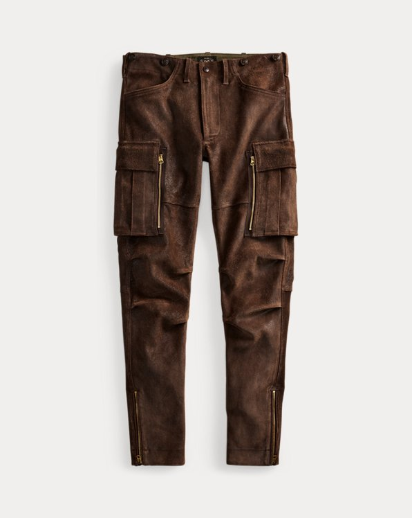 Leather Skinny Cargo Pant