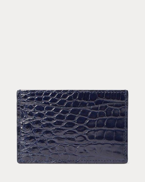 Porte-cartes en alligator