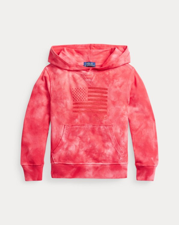 Flag Cotton Mesh Hooded Tee