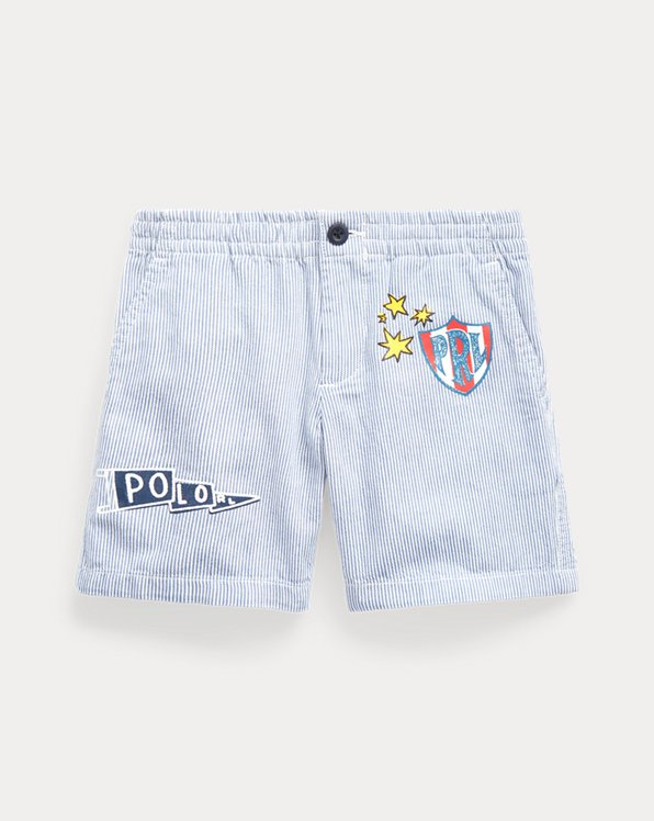 폴로 랄프로렌 보이즈 반바지 Polo Ralph Lauren Polo Prepster Striped Short,Indigo Stripe