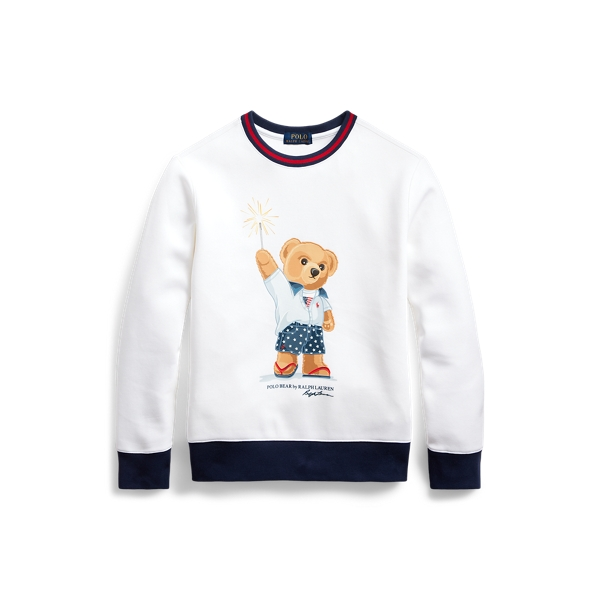 폴로 랄프로렌 Polo Ralph Lauren Sparkler Bear Sweatshirt,White