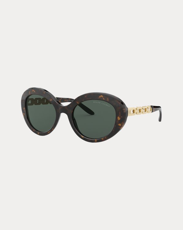Chain Oval Sunglasses