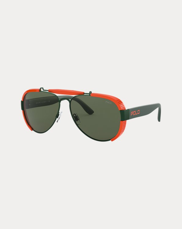 Two-Tone Pilot Sunglasses
