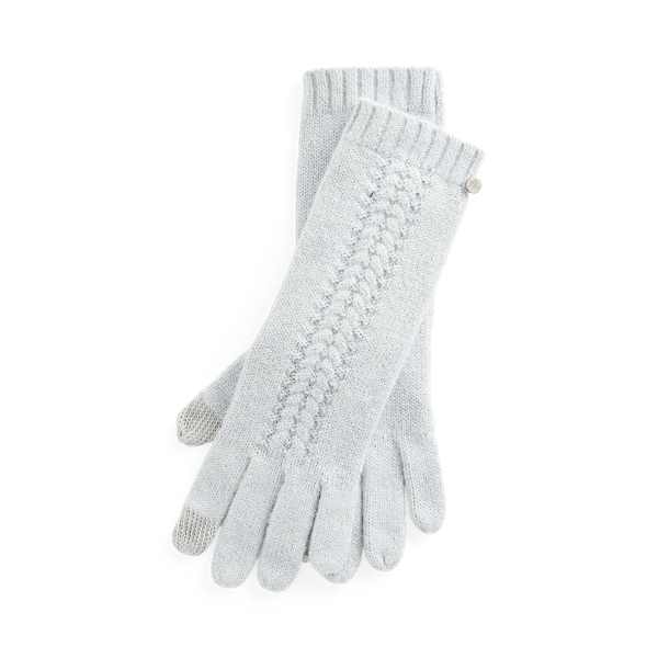 폴로 랄프로렌 장갑 (스마트폰 터치 가능) Polo Ralph Lauren Textured Metallic Tech Gloves,Aqua