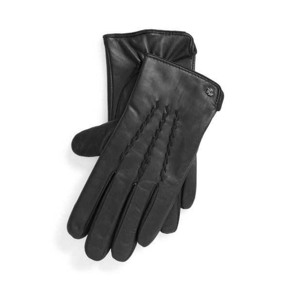 폴로 랄프로렌 장갑 (스마트폰 터치 가능) Polo Ralph Lauren Sheepskin Tech Gloves,Black