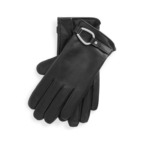 폴로 랄프로렌 장갑 (스마트폰 터치 가능) Polo Ralph Lauren Bridle Sheepskin Tech Gloves,Black
