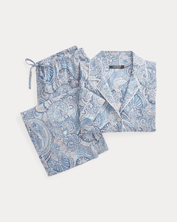 Print Cotton-Blend Sleep Set