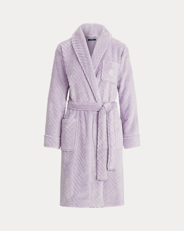Herringbone Shawl-Collar Robe