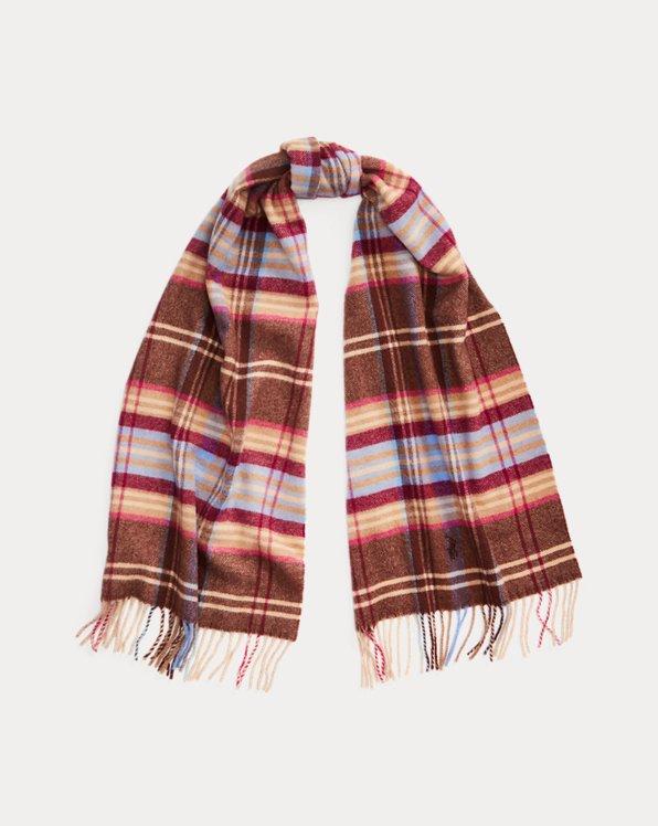 Plaid Wool-Blend Scarf