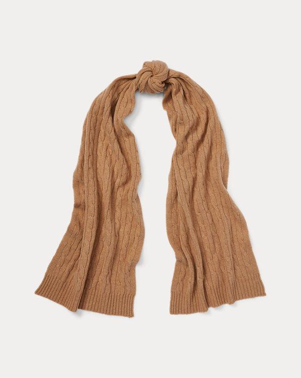 Polo Ralph Lauren Cable-Knit Cashmere Scarf