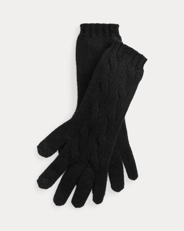 Polo Ralph Lauren Cable-Knit Cashmere Tech Gloves
