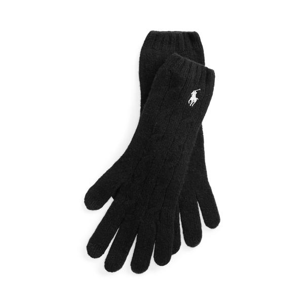폴로 랄프로렌 울 캐시미어 장갑 Polo Ralph Lauren Wool-Cashmere Gloves,Black