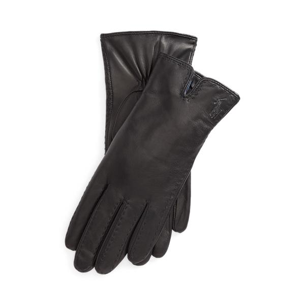 폴로 랄프로렌 장갑 Polo Ralph Lauren Leather Touch Screen Gloves,Black