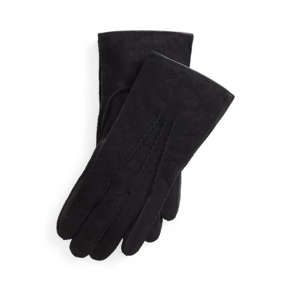 폴로 랄프로렌 장갑 Polo Ralph Lauren Shearling Gloves,Black