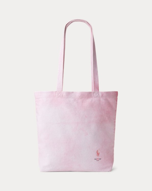 Pink Pony Tie-Dye Cotton Tote Bag