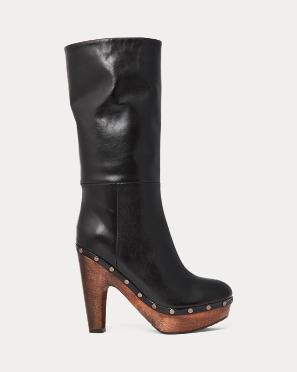 Vachetta Calfskin Clog Boot