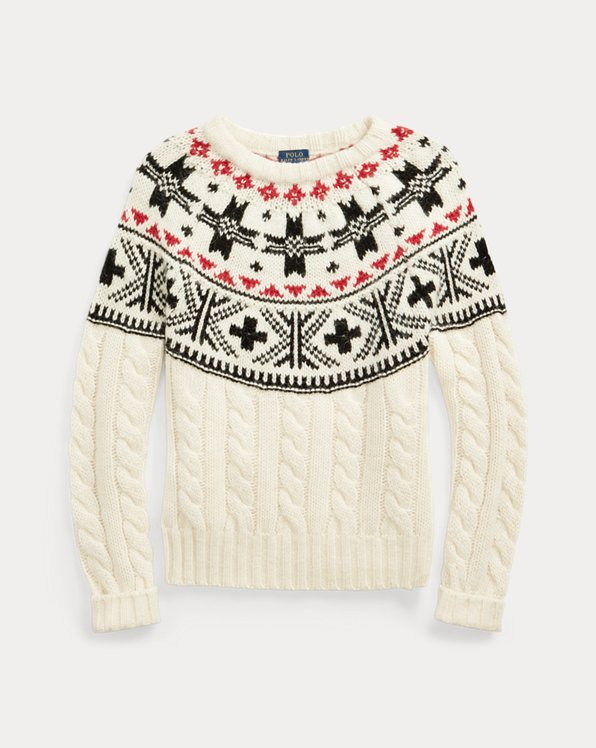 Fair Isle Cable-Knit Jumper