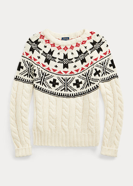 Polo Ralph Lauren Fair Isle Cable-Knit Sweater