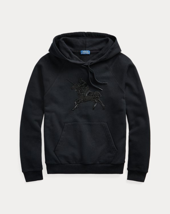Beaded Graphic Hoodie