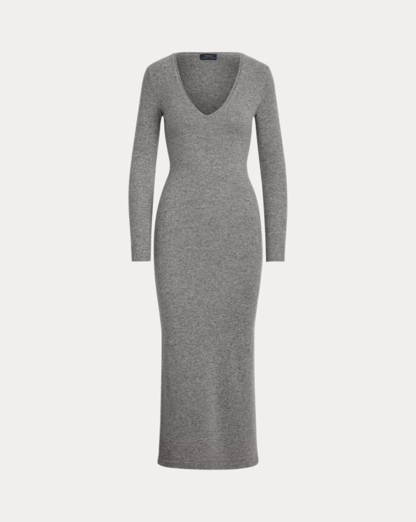 Cashmere V-Neck Dress