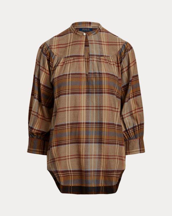 Plaid Keyhole Shirt