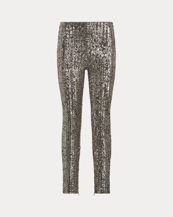 Sequined Skinny Trousers