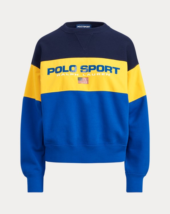 Colour-Block Fleece Sweatshirt
