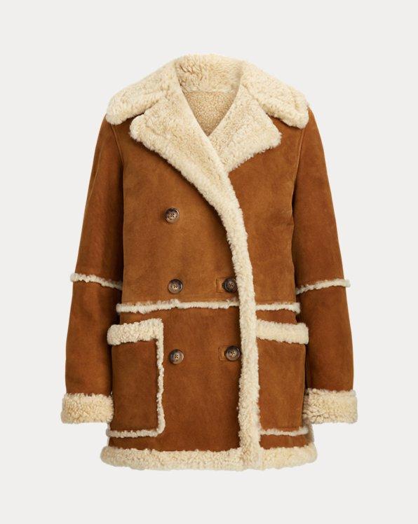 Manteau réversible en peau lainée